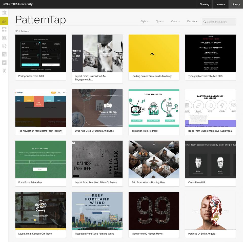 PatternTap---ZURB-Library